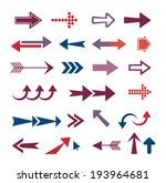 arrow set  retro style  | Shutterstock . vector #193964681