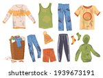 collection dirty clothes.... | Shutterstock .eps vector #1939673191