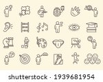 large set of line drawn icons... | Shutterstock .eps vector #1939681954