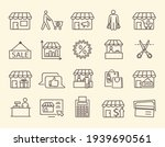 large set of line icons for a... | Shutterstock .eps vector #1939690561