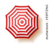 beach umbrella  top view.... | Shutterstock .eps vector #193972961