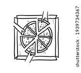 hand drawn doodle people having ... | Shutterstock .eps vector #1939734367
