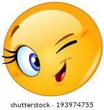 yellow ball winking | Shutterstock .eps vector #193974755