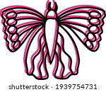 pink butterfly with unusual... | Shutterstock .eps vector #1939754731