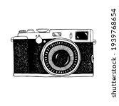 Photo Camera. Hand Drawn...