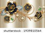 3d Wallpaper Design Golden ...