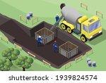 construction site. formwork... | Shutterstock .eps vector #1939824574