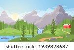 beautiful vector summer... | Shutterstock .eps vector #1939828687