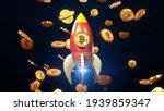 btc bitcoin rocket up trand  ... | Shutterstock . vector #1939859347