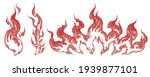 flames. design set. art... | Shutterstock .eps vector #1939877101