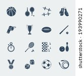 sport equipments of flat design.... | Shutterstock .eps vector #193990271