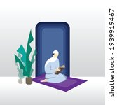 a muslim is reading the holy... | Shutterstock .eps vector #1939919467