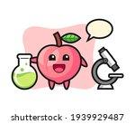 mascot character of peach as a... | Shutterstock .eps vector #1939929487