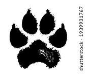 Smeared Footprint Of Large Dog...