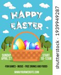 happy easter template for flyer ... | Shutterstock .eps vector #1939949287
