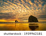 Sunset Image Of Haystack Rock...