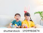 Happy Easter Day.asian Sibling...