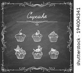 vintage cupcake collection. ... | Shutterstock .eps vector #194004341