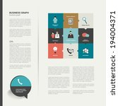 modern flat page layout with...