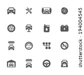 auto service icons  vector | Shutterstock .eps vector #194004545