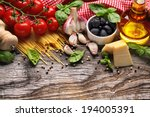 italian food ingredients on... | Shutterstock . vector #194005391