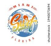 miami surf. emblem template... | Shutterstock .eps vector #1940073694