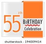 55th birthday  55 years... | Shutterstock .eps vector #194009414
