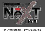 next level typography design in ... | Shutterstock .eps vector #1940120761