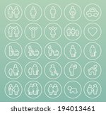 set of thin white stroke family ... | Shutterstock .eps vector #194013461