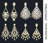 illustration set of gold... | Shutterstock .eps vector #1940137861