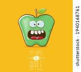 very funny cartoon cute green...   Shutterstock .eps vector #1940168761