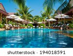 beautiful swimming pool in... | Shutterstock . vector #194018591