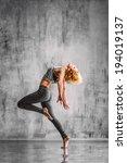 young beautiful dancer posing... | Shutterstock . vector #194019137