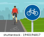 back view of cyclist cycling on ...   Shutterstock .eps vector #1940196817