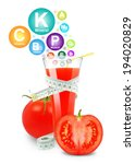 tomato juice with meter and... | Shutterstock . vector #194020829