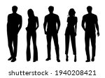 vector silhouettes of  men and... | Shutterstock .eps vector #1940208421