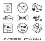 dog mom text design from dog...   Shutterstock .eps vector #1940211631