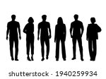 vector silhouettes of  men and... | Shutterstock .eps vector #1940259934