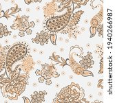 Floral Vector Seamless Paisley...