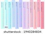 multi colored calendar 2022... | Shutterstock .eps vector #1940284834