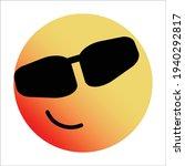cute gradient smirking face... | Shutterstock .eps vector #1940292817