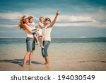 happy family standing on the... | Shutterstock . vector #194030549
