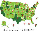 3d map of usa  united states of ... | Shutterstock .eps vector #1940337931