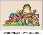 love psychedelic hippie art...   Shutterstock .eps vector #1940339581