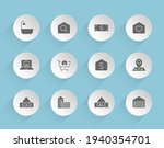real estate vector icons on...   Shutterstock .eps vector #1940354701