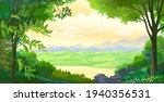 two trees  a pile of rocks  a...   Shutterstock .eps vector #1940356531