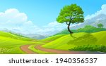 a path from the lawn to the...   Shutterstock .eps vector #1940356537