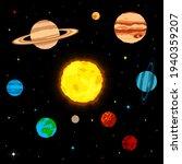 planets solar system sun...   Shutterstock .eps vector #1940359207