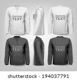 long sleeved shirts with sample ... | Shutterstock .eps vector #194037791