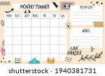 monthly planner template with...   Shutterstock .eps vector #1940381731
